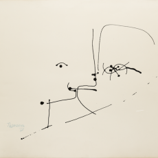 Two Heads, 1973, ink on paper, 50 x 62 cm