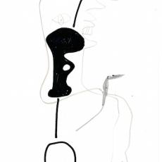 Hieroglyph IV, 1979, felt pen and conté crayon on paper, 29.5 x 21 cm