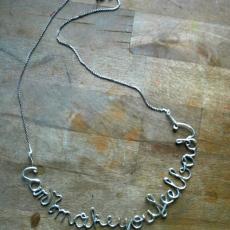 Małgorzata Markiewiczcan<br />Can I make you feel bad?<br />2016<br />silver necklace