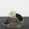 István Szabó, Untitled [Large Boulder], 2017. Ceramic, ongobe with vanadium oxide, black varnish, approx. 52 x 56 x 36 cm