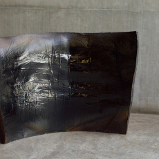 István Szabó, Crust, 2017, ceramic, 38 x 60cm
