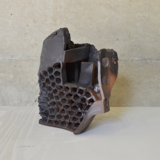 István Szabó, Face, Hybrid series, 2017, ceramic, 30x 28cm