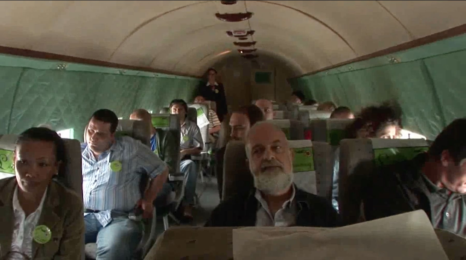 "Still from Joanna Rajkowska Airways, 2008<br />2-channel video, 22'51"", HD"