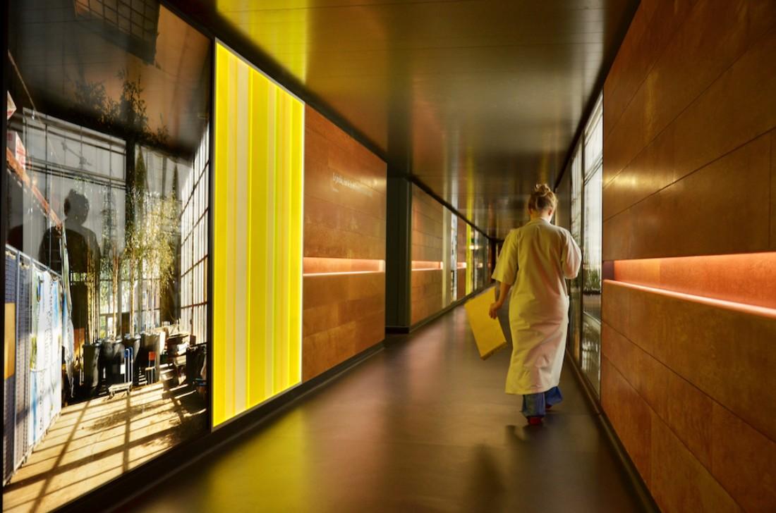 Jyll Bradley, Le Jardin Hospitalier, Hopital Roger Salengro, CHRU, Lille, France. Permanent Installation.