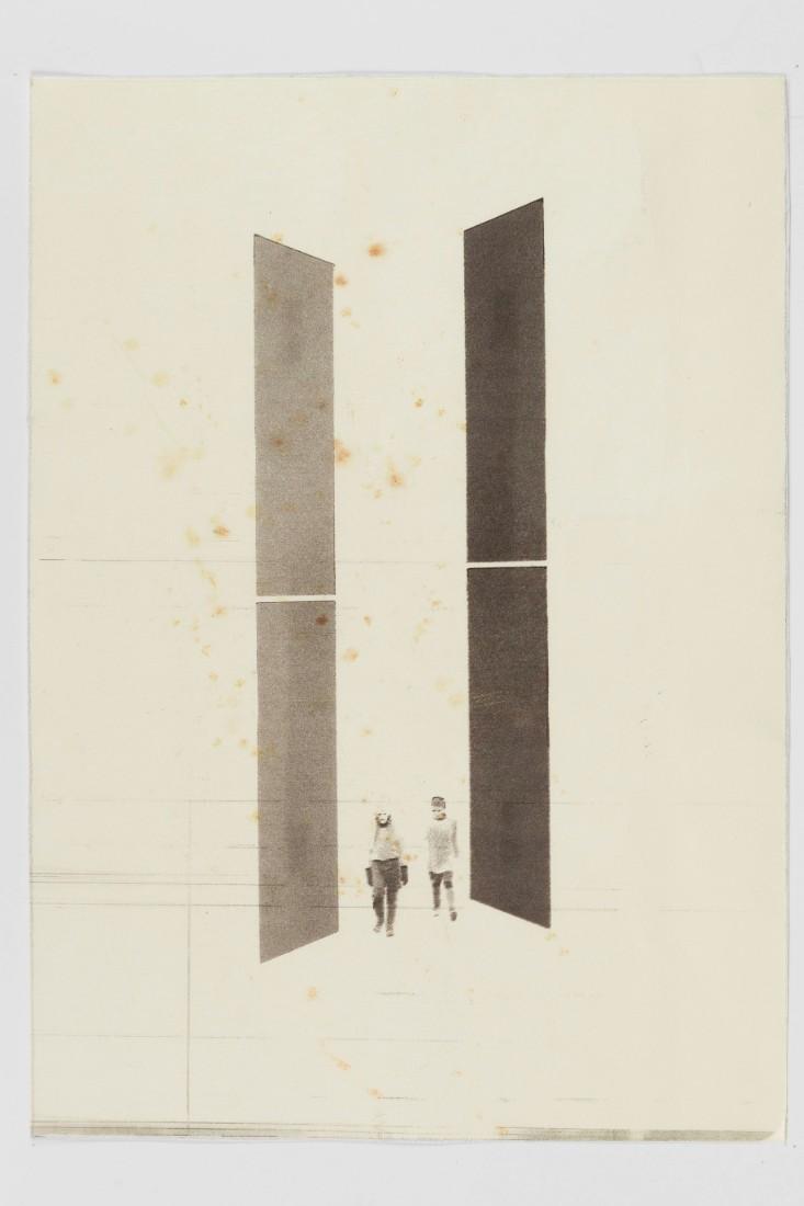 Jyll Bradley, Architecture Makes Form: Trees Create Space (For Aldo Giurgola), 2013, 29.5 x 20.5 cm