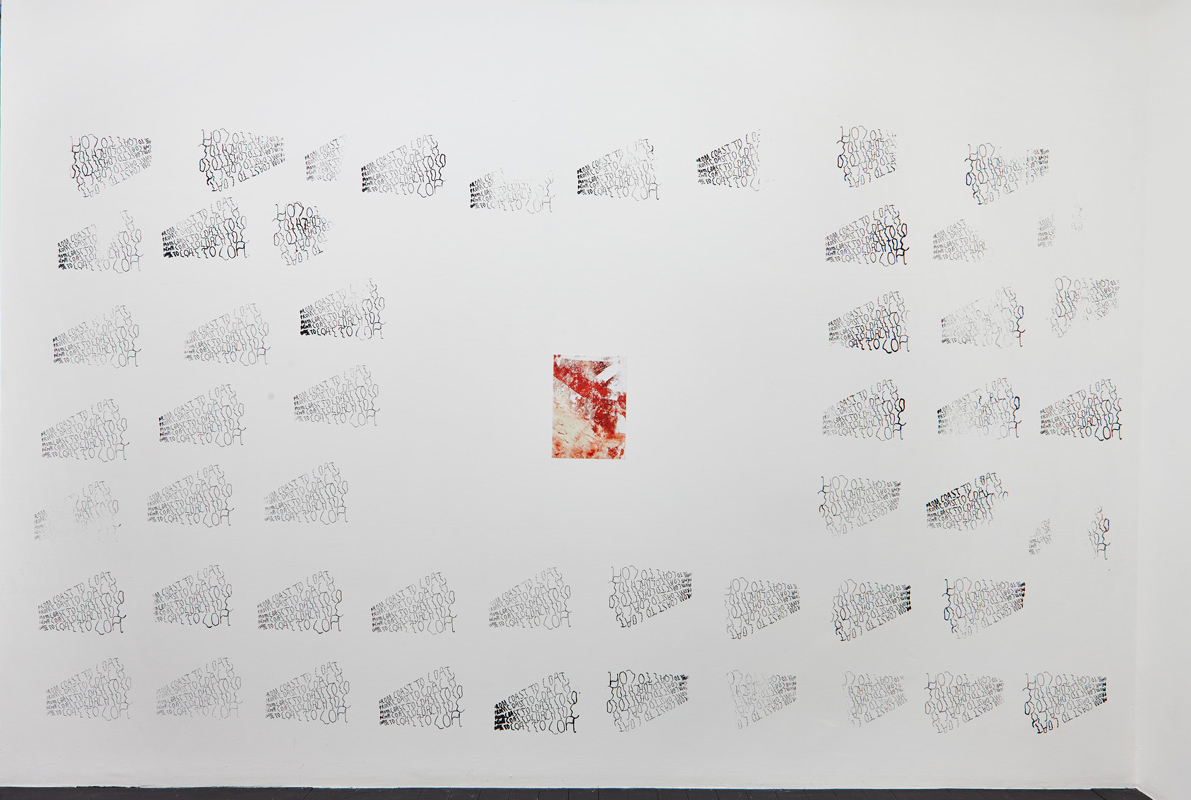 Katharina Marszewski, From Coast to Coat (wall piece), 2015. Screen print. Dimensions variable