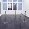 Katharine Marszewski, Spiralo Justice, 2015, Steel, telephone wires, spray paint, Dimensions variable (each element: 27 x 35 x 100 cm)