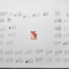 Katharine Marszewski, From Coast to Coat (wall piece), 2015, Screen print, Dimensions variable (installation size: 460 x 330 cm)