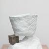 Katie Cuddon, Cool Speech, 2013, Painted ceramic, plaster, wood, 55 x 49 x 49 cm