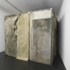 Krzysztof Gil, 'Tajsa',  installation view, Iron, timber, canvas, string, ink, chalk, soil, sound system, light,  250  x 300 x 300 cm