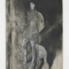 Krzysztof Gil, #10 - 'Hunting series (KGd04)', 2018,  chalk, charcoal, ink on paper, 70 x 50 cm