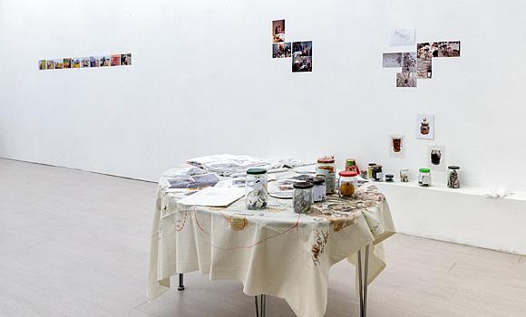 """Installation shot, """"nothing, nothing, I told myself nothing, nothing"""" exhibition at wizyTUjaca Galeria"""