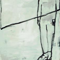 Marek Szczęsny, White powder on glass, 2013, Oil on canvas, 195 x 130 cm