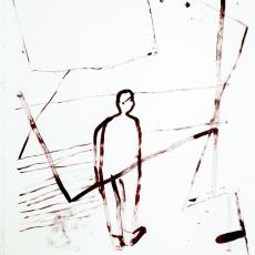 Marek Szczęsny, Untitled, 2009, Acrylic on paper, 110 x 75 cm