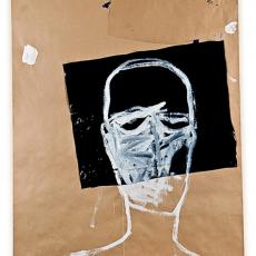 Marek Szczęsny, Emigrant #3, 2010, Acrylic on paper, plastic 160x120cm