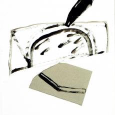 Marek Szczęsny, Untitled, 2009, Acrylic on paper, 110x75cm