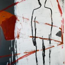 Marek Szczęsny, Untitled, 2009, oil on canvas, 230x160cm