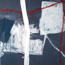 Marek Szczęsny, Untitled, 2010, oil on canvas, wood, 230x180cm