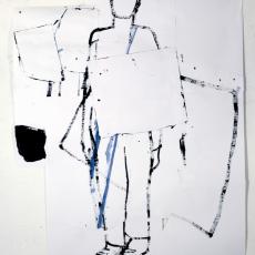 Marek Szczęsny, Untitled, 2013, acrylic on paper, 120x100cm