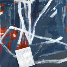 Marek Szczęsny, Untitled, 2016, oil on canvas, metal, wood, 220x170cm