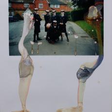 Marie Jeschke, Digital Dementia, 2018 Unique analogue photographic print on Fuji paper, mixed liquids 100 x 64 cm
