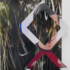 Marie Jeschke, Kieshofer Moor, Always (Mark 3), 2015, Unique analogue print on aluminium, 145x100x 15cm