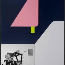Filip Berendt<br />Monomyth II H<br />2016-2017<br />archival pigment print on dibond, acrylic paint, MDF<br />70x50 cm