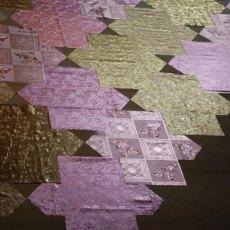 Małgorzata Markiewicz <br />Mosaic <br />2013 <br />table oilcloth <br />400x250cm-1