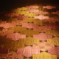 Małgorzata Markiewicz <br />Mosaic <br />2013 <br />table oilcloth <br />400x250cm