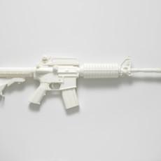 Joanna Rajkowska<br />M4A1 carbine (from the series Painkillers I)<br />2014<br />Powdered analgesic, polyurethane resin, life-size cast<br />76 x 25 x 7.2 cm