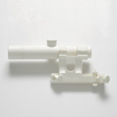 Joanna Rajkowska<br />PU 3.5x20 Scope with Mount for Mosin-Nagrant Rifle (from the series Painkillers II)<br />2015<br />Powdered analgesic, polyurethane resin, life-size cast<br />21 x 8 x 6 cm