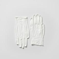 Joanna Rajkowska<br />Latex Gloves (from the series Painkillers II)<br />2015<br />Powdered analgesic, polyurethane resin, life-size cast<br />Each 22 x 11 x 0.5 cm