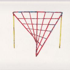 Shaun C. Badham, 'Spider's Web Drawing', 2014, 230gsm , Acid free paper, 27 x 19.5cm