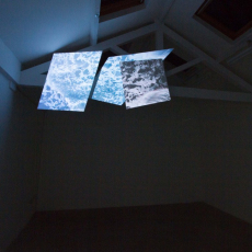 Sława Harasymowicz, Untitled, 2016, split screen video installation, 1' 30 video loop, variable dimensions