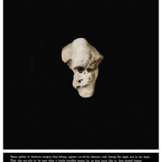 Joanna Rajkowska<br />Stones and Other Demons IV (JRSD04)<br />2019<br />Giclée on Hahnemühle German Etching<br />85 x 70 cm (88 x 73 cm framed) Edition 1 of 5 + 2AP