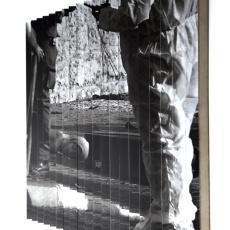 Joanna Rajkowska<br />Jerusalem, 22.09.2004 | Israel/Palestine<br />2018<br />Digital print, mdf, wood, aluminium profiles<br />70 x 77 cm