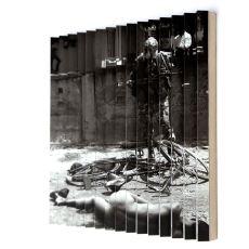 Joanna Rajkowska<br />Trincomalee 2.03.2000 | Sri Lanka<br />2016<br />Digital print, mdf, wood, aluminium profiles<br />50 x 53 cm
