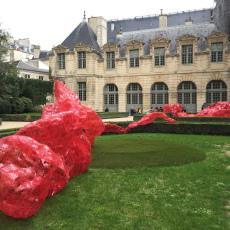 Tatiana Wolska<br />installation view at Place de Vosges-l'hôtel de Sully, Paris<br />2015