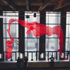 Tatiana Wolska<br />Principe d'Incertitude<br />2015<br />installation view at Palais de Tokyo, Paris