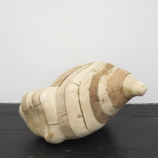 Tatiana Wolska<br />Untitled<br />2015<br />reclaimed timber and screws<br />45 x 40 x 24 cm, TWSC17 5