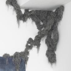 Tatiana Wolska<br />Wasp Nest<br />2012/2017<br />magnets, nail<br />dimensions variable, TWSC17 8