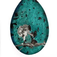Joanna Rajkowska<br />Egg-Earth (Industrial Revolution)<br />2019<br />Collage on hand made paper<br />50x70cm