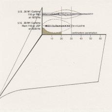Joanna Rajkowska<br />M1 Carbine 110gr FMJ at 1878 f:s, and M1 Carbine Rem 110gr-JSP at 2030 f:s<br />2015<br />20.6x14.6cm