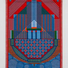 Yelena Popova<br />Keepsafe I<br />2019<br />Jaquard woven tapestry<br />185x141,5cm