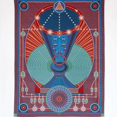 Yelena Popova<br />Promethean Chalice<br />2020<br />Jacquard woven tapestry<br />190x140 cm