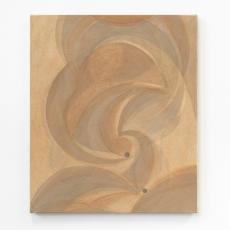 Yelena Popova<br />Untitled (Girton)<br />2016<br />Wood ash, soil, crashed Victorian brick on  canvas<br />66 x 56 cm