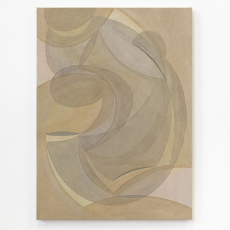 Yelena Popova<br />Untitled<br />2018<br />Wood ash, seaweed ash, soil on canvas<br />75 x 55 cm