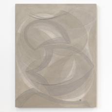 Yelena Popova<br />Untitled<br />2017<br />Wood ash, seaweed ash on canvas<br />71 x 56 cm