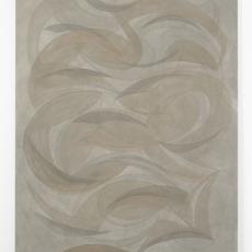 Yelena Popova<br />Untitled<br />2018<br />Wood ash, soil, seaweed ash on canvas<br />137 x 107 cm