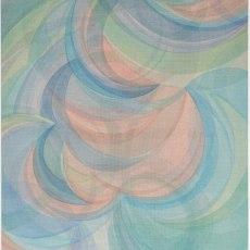 Yelena Popova<br />Sun Paths<br />2020<br />Distemper on canvas<br />152 x 127 cm
